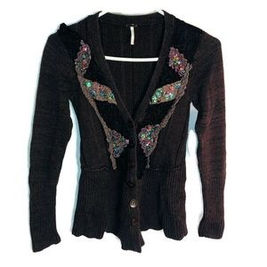 Free people small sequined embellished cardigan
